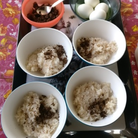 Sticky rice and roasted cumin for breakfast. Delicious!